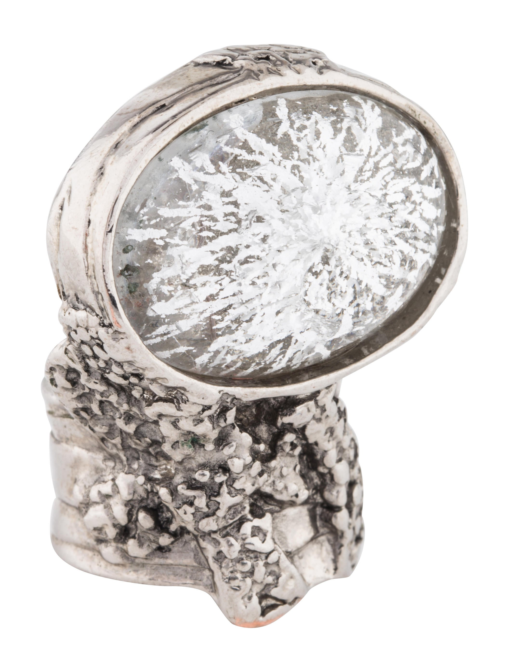 the enlarged cocktail ring realreal products saint yves engagement laurent rings flower jewelry arty
