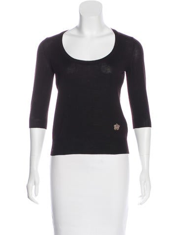 Yves Saint Laurent Wool Knit Top None