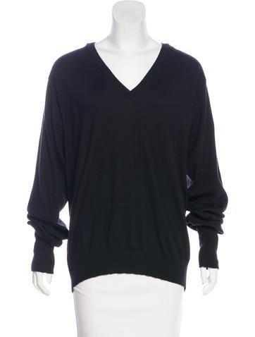 Yves Saint Laurent Cashmere V-Neck Sweater None