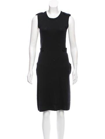 Yves Saint Laurent Wool Knee-Length Dress None