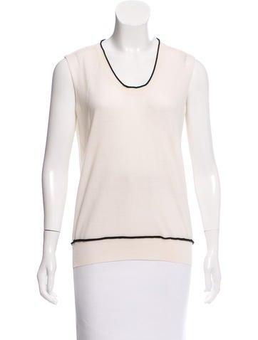 Yves Saint Laurent Wool Colorblock Top None