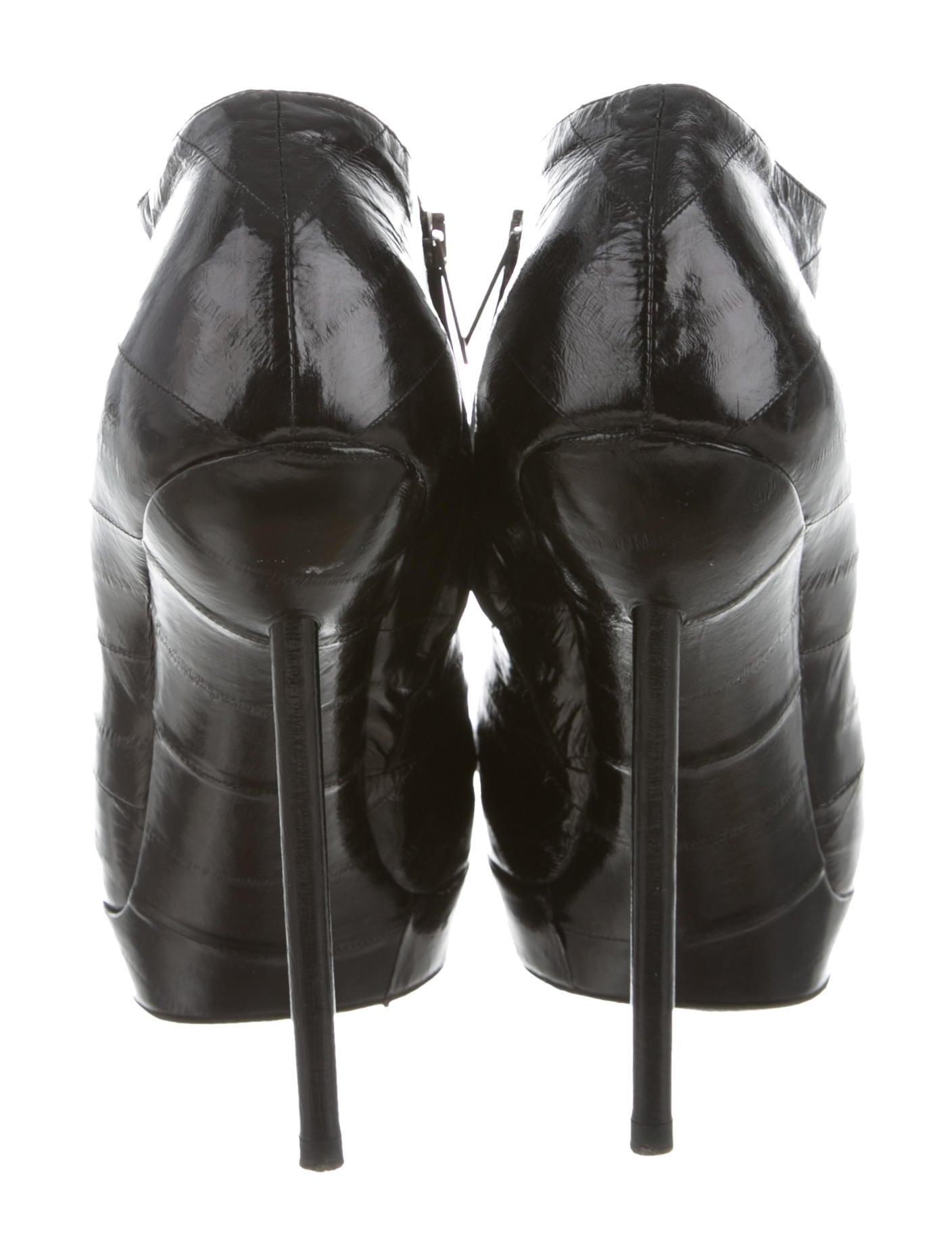 Yves Saint Laurent Eel Skin Platform Booties sneakernews cheap price sBtyXO