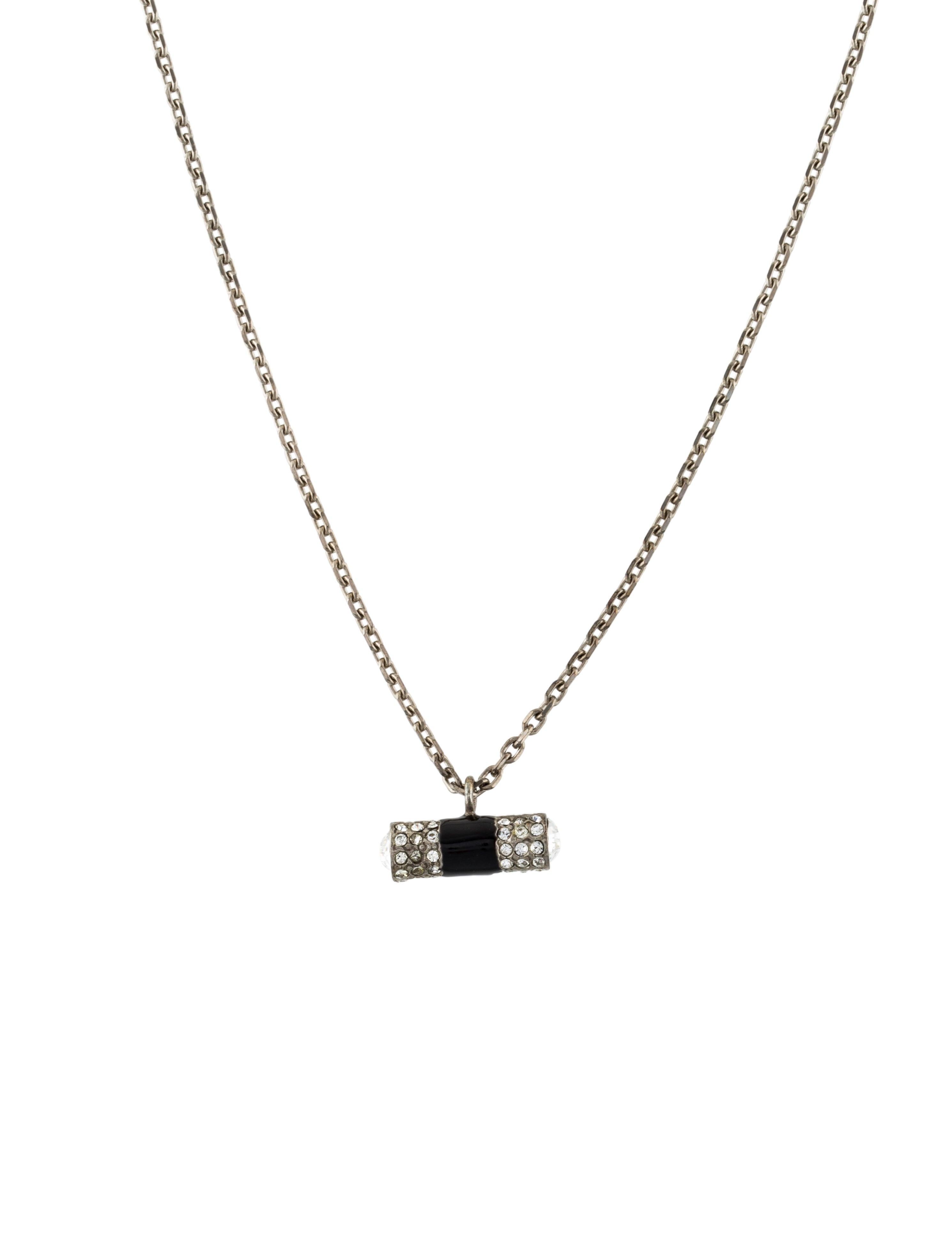 a5d42dff8e3 Yves Saint Laurent Crystal Barrel Pendant Necklace - Necklaces ...