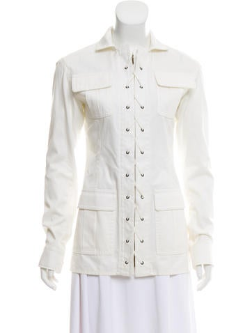 Collared Lace-Up Jacket