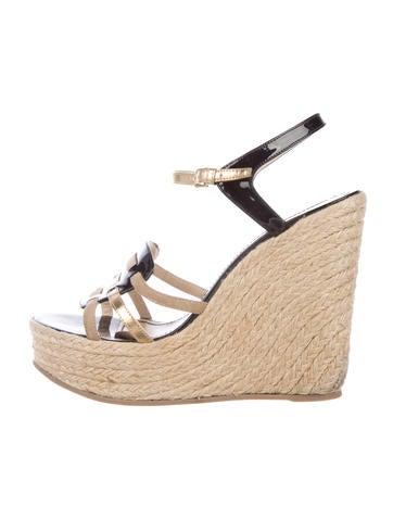 Yves Saint Laurent Multistrap Espadrille Sandals None