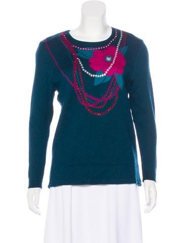 Yves Saint Laurent Vintage Embellished Knit Sweater None