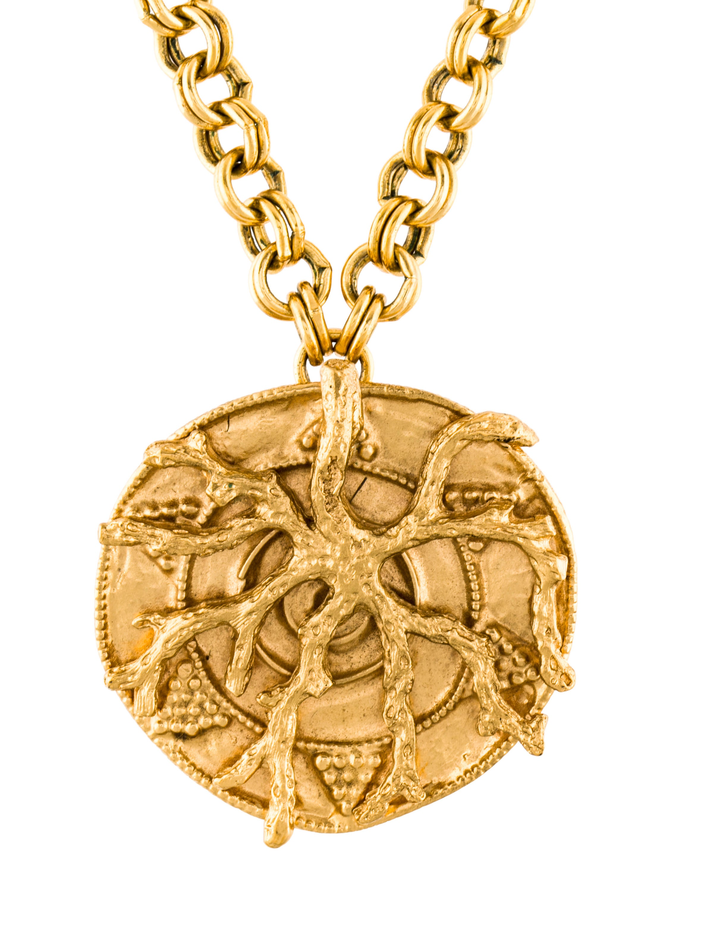 saint us oval christian gold itm yellow medallion no pendant christopher necklace protect