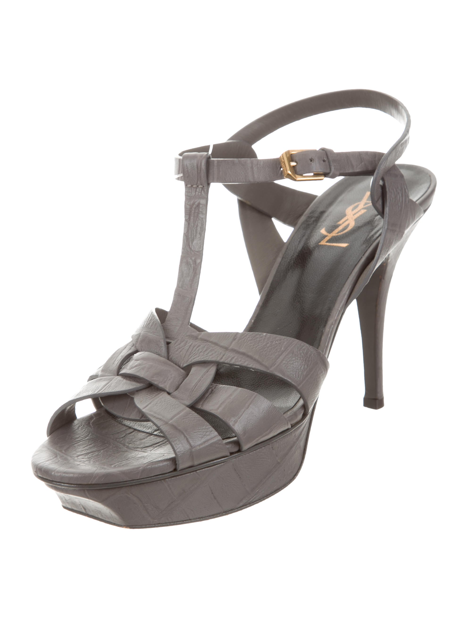 cheap factory outlet outlet Yves Saint Laurent Embossed Tribute Sandals cheap deals free shipping Inexpensive for sale sale online 9yxIdIDS
