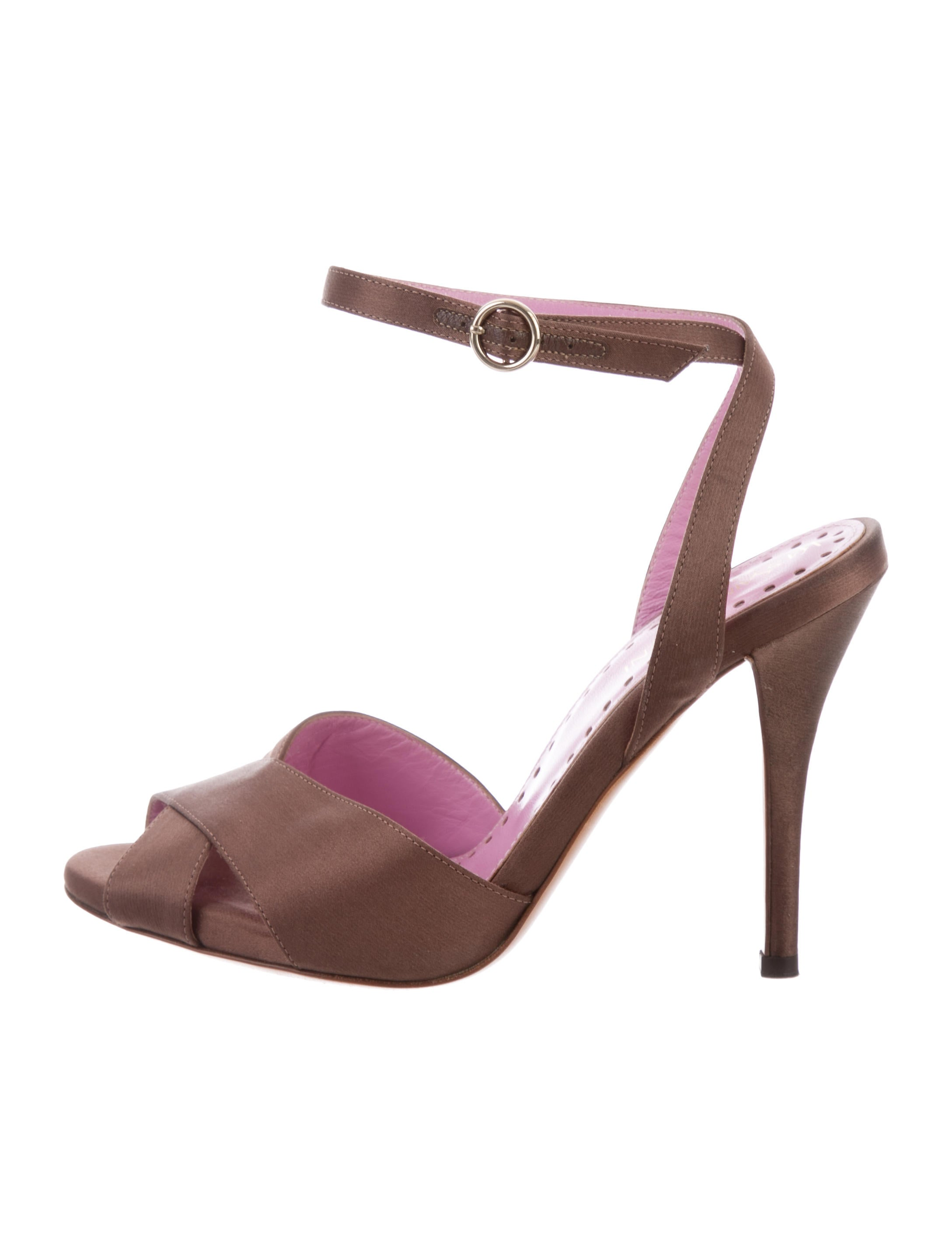 Yves Saint Laurent Crossover Satin Sandals latest collections cheap price free shipping ebay buy cheap choice whd8IqPF