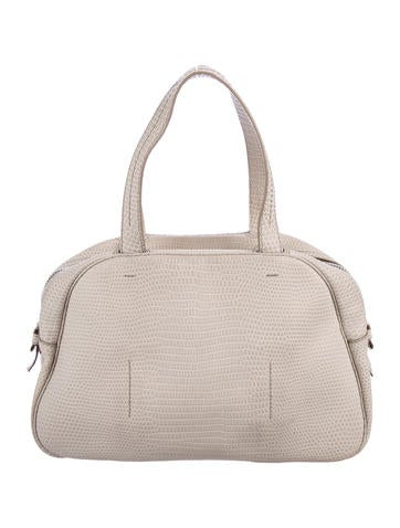 Embossed Leather Bowling Bag
