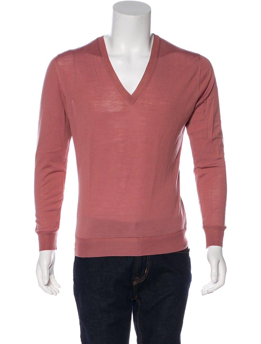 94aa8607f06 Yves Saint Laurent V-Neck Rib Knit Sweater - Clothing - YVE87392 ...