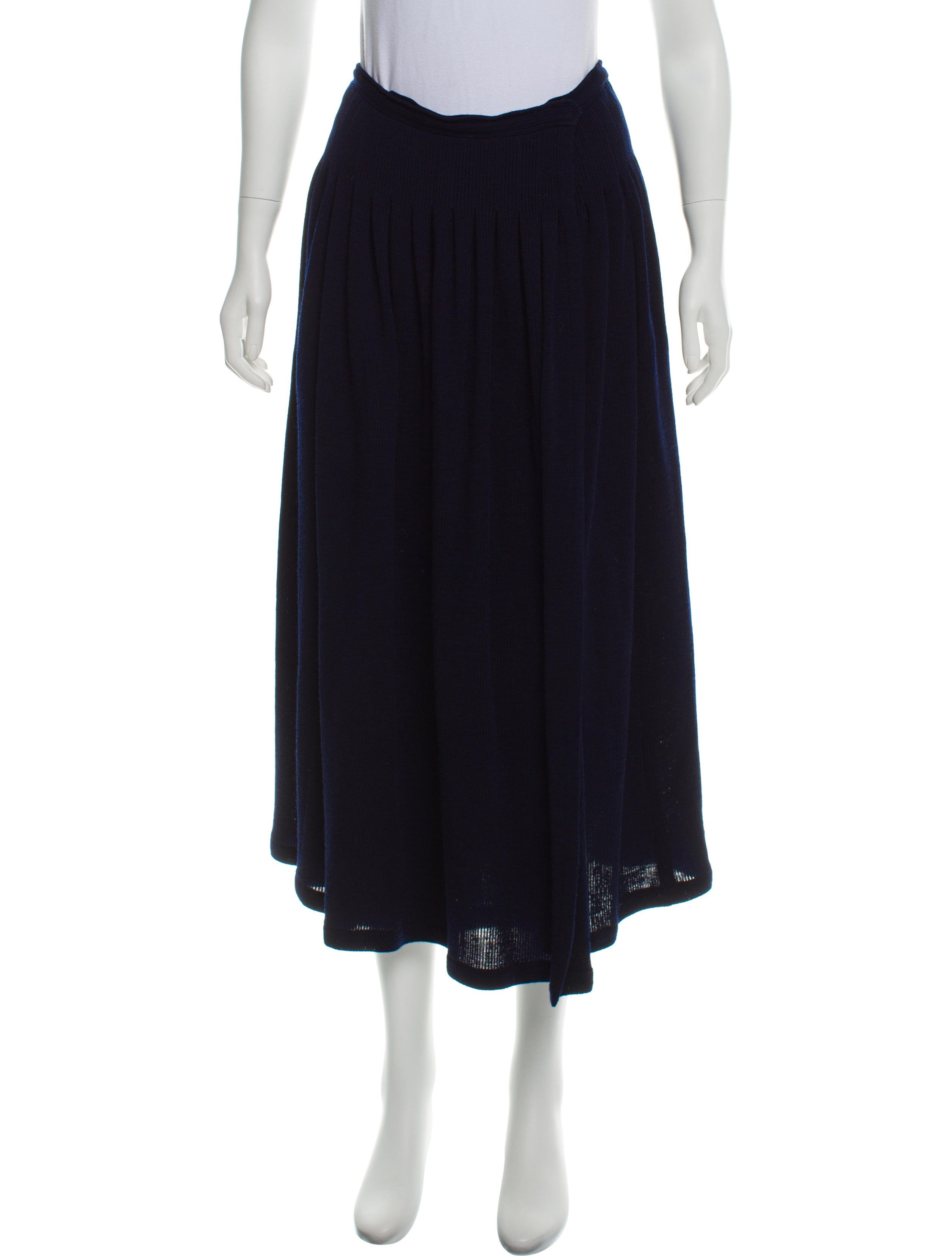 3b176de244 Yves Saint Laurent Vintage Midi Wool Skirt - Clothing - YVE92475 ...