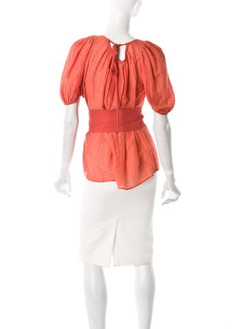 Belted Peasant Top