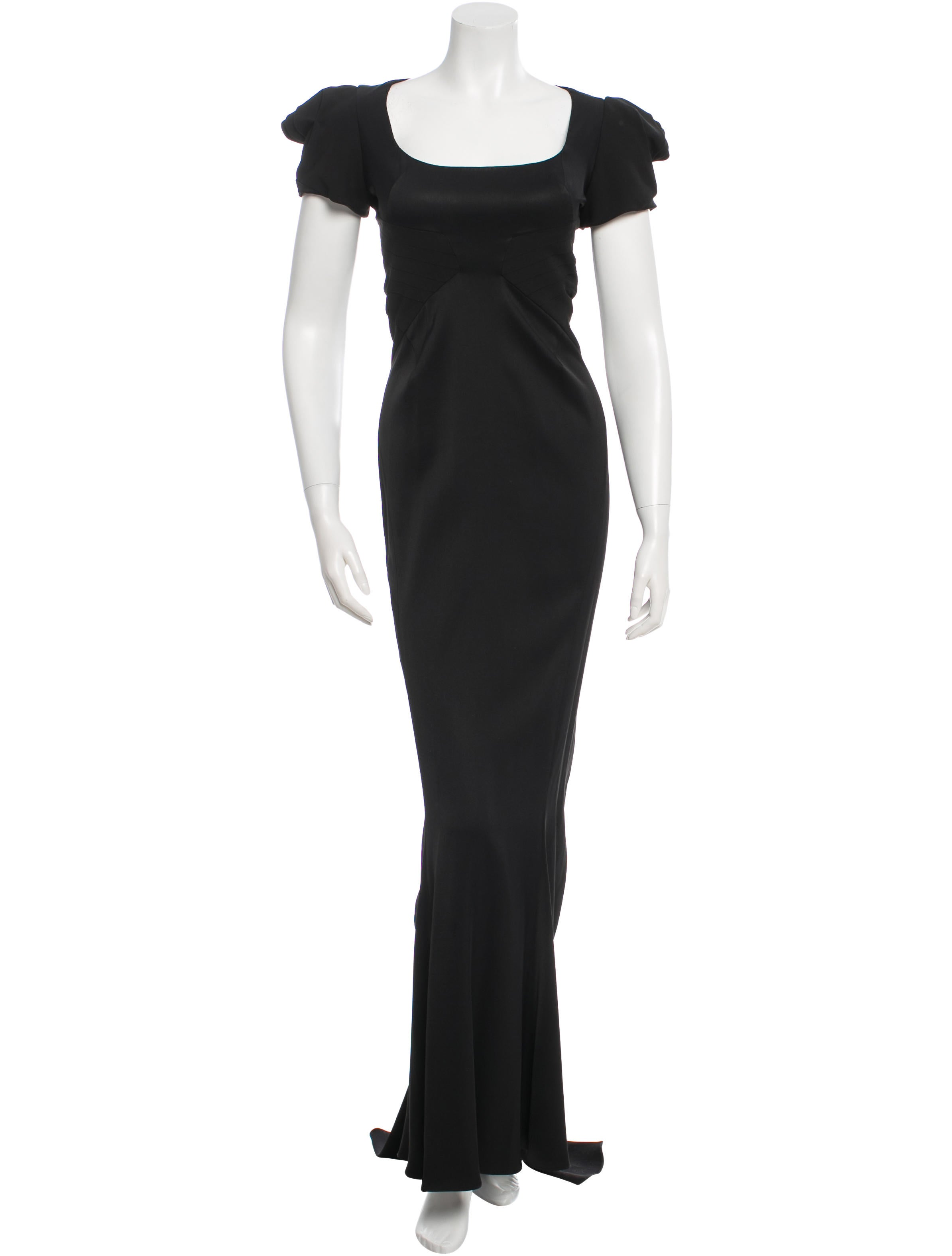 Zac Posen Satin Evening Gown - Clothing - ZAC22614   The RealReal