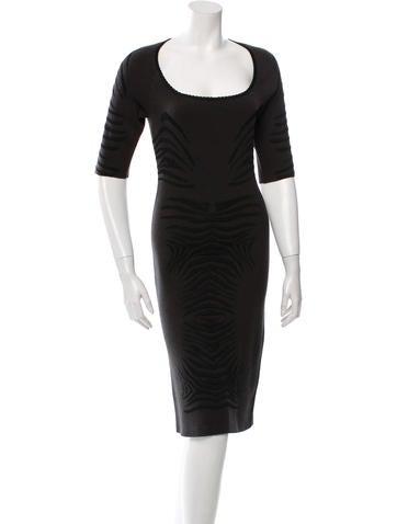 Zac Posen Long Sleeve Midi Dress None