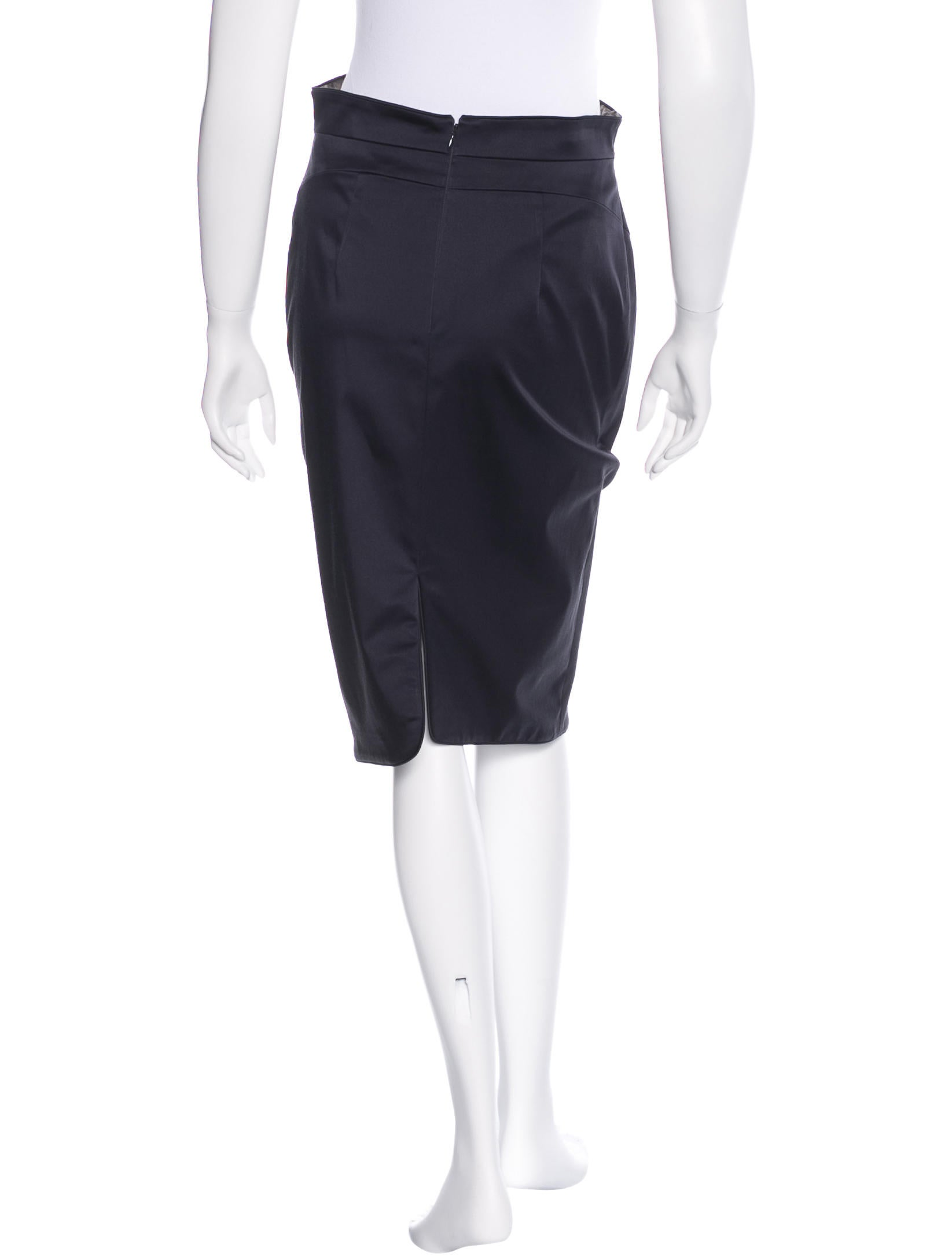 zac posen embroidered pencil skirt clothing zac23699