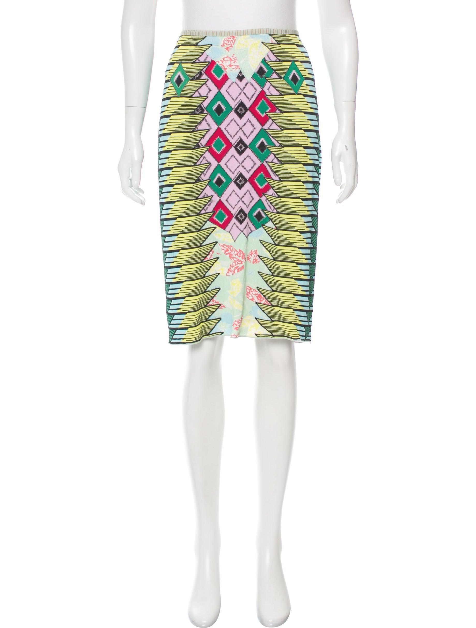 zac posen patterned pencil skirt clothing zac24908