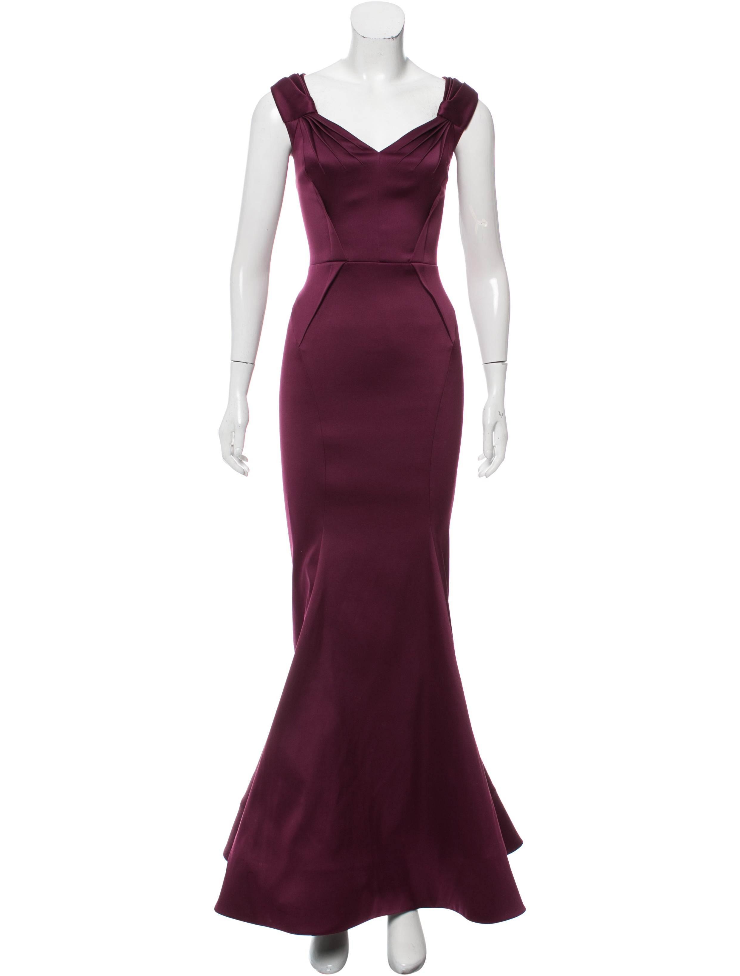 Zac Posen Structured Evening Dress - Clothing - ZAC25665   The RealReal