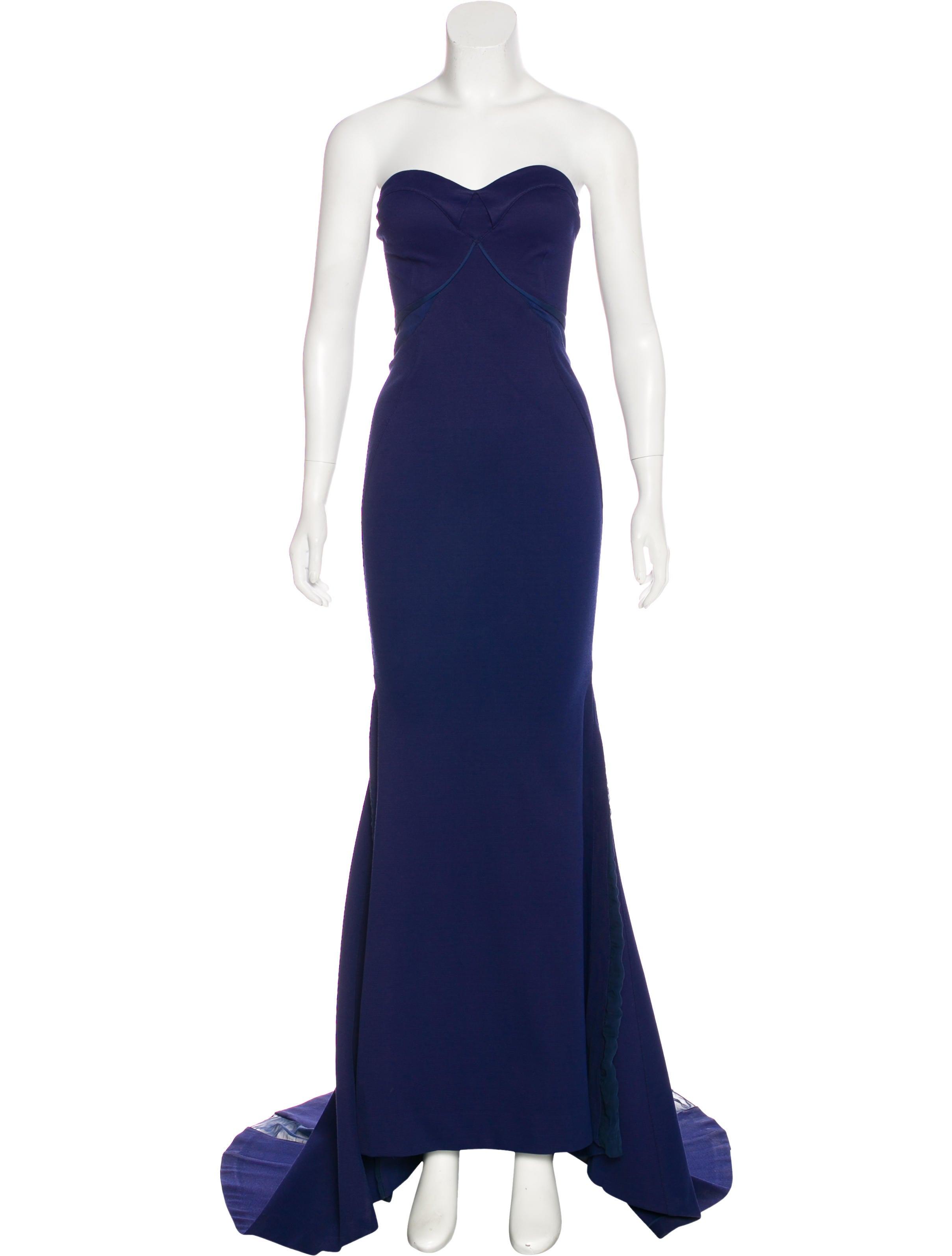 Zac Posen Sheer-Trimmed Evening Gown - Clothing - ZAC25741   The ...