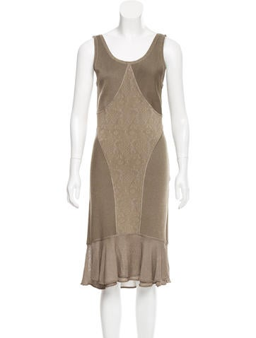 Zac Posen Knit Midi Dress None