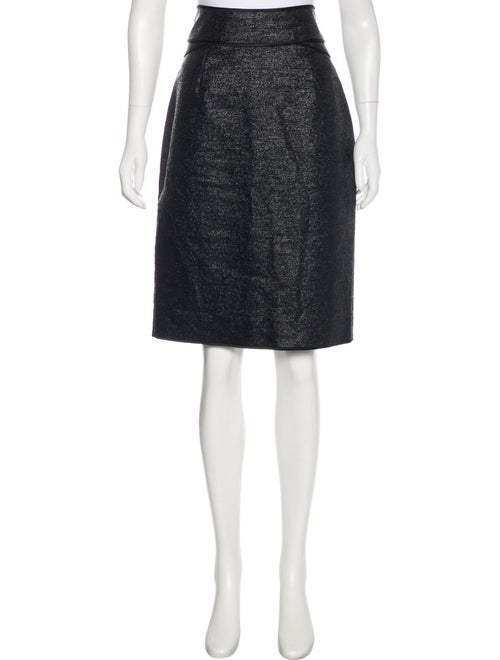 Zac Posen Metallic Knee-Length Skirt metallic