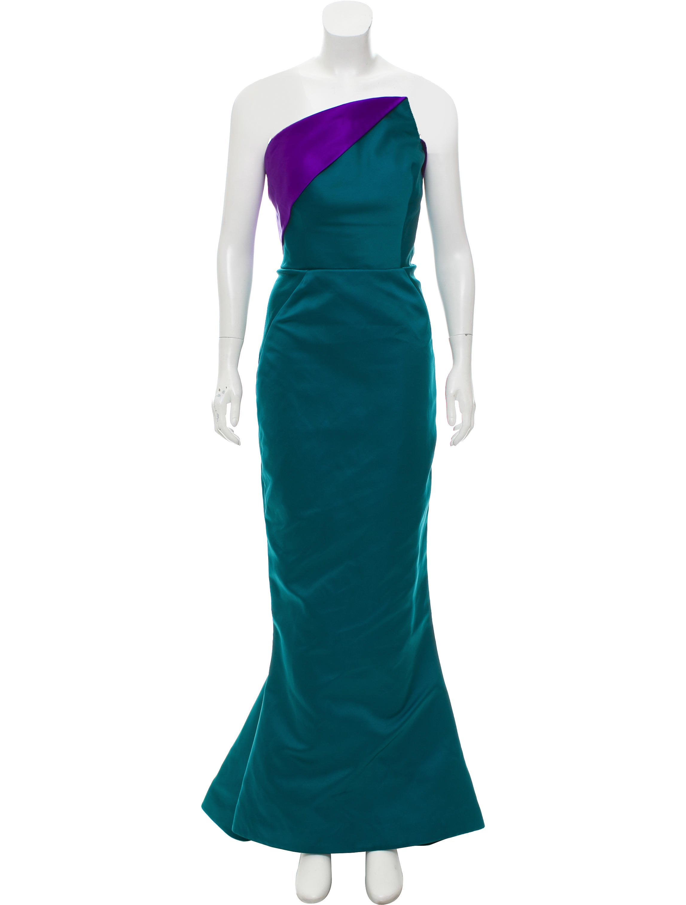 Zac Posen Strapless Evening Gown - Clothing - ZAC27297   The RealReal