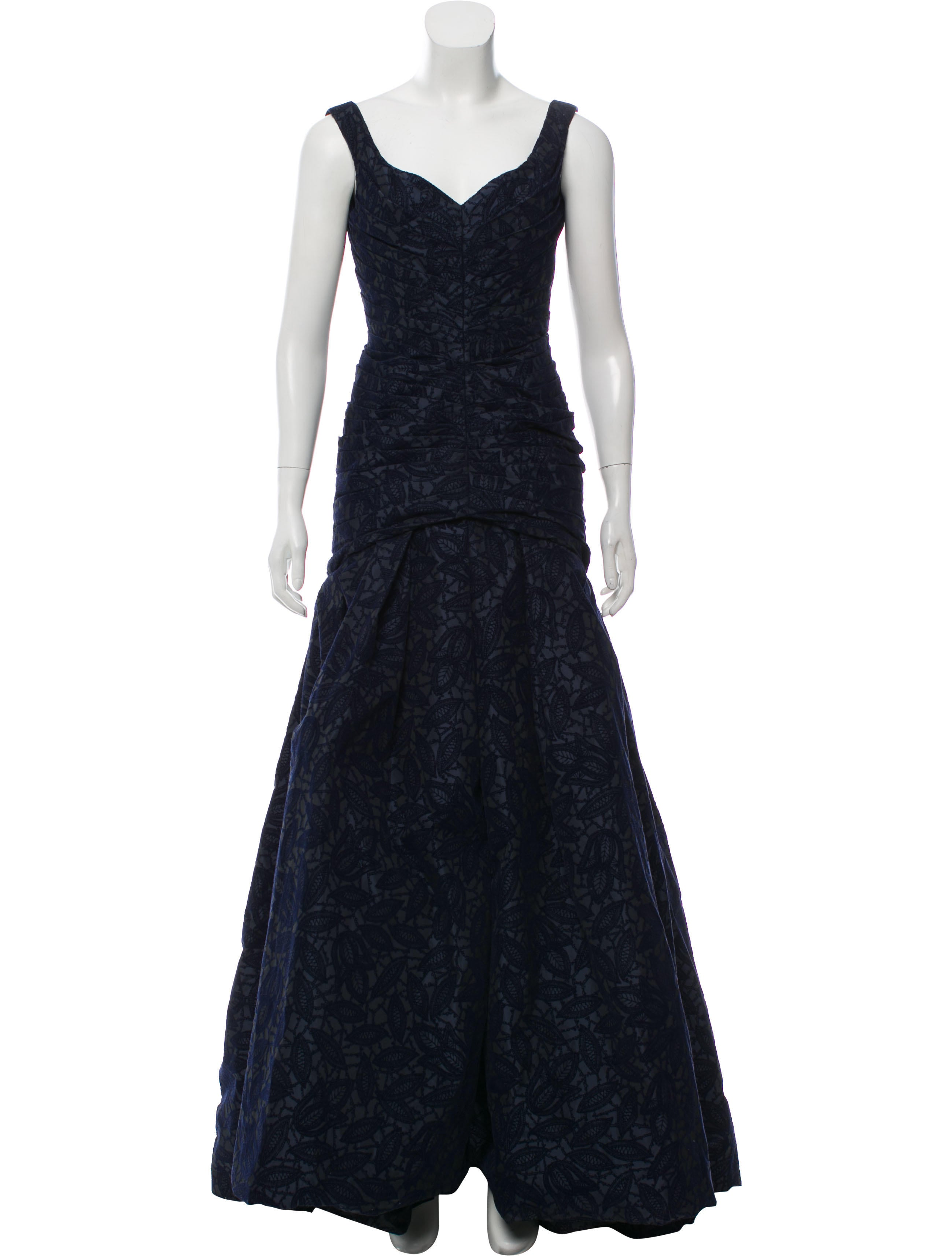 Zac Posen Devoré Evening Dress - Clothing - ZAC27334   The RealReal