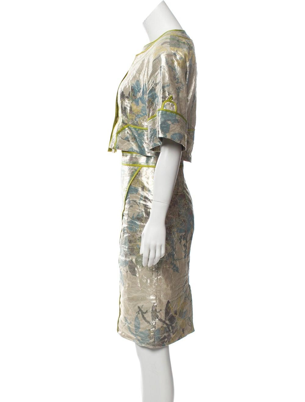 Zac Posen Metallic Knee-Length Skirt Set Metallic - image 2