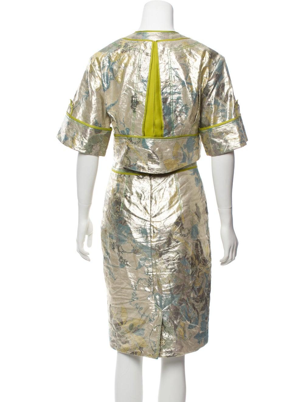 Zac Posen Metallic Knee-Length Skirt Set Metallic - image 3