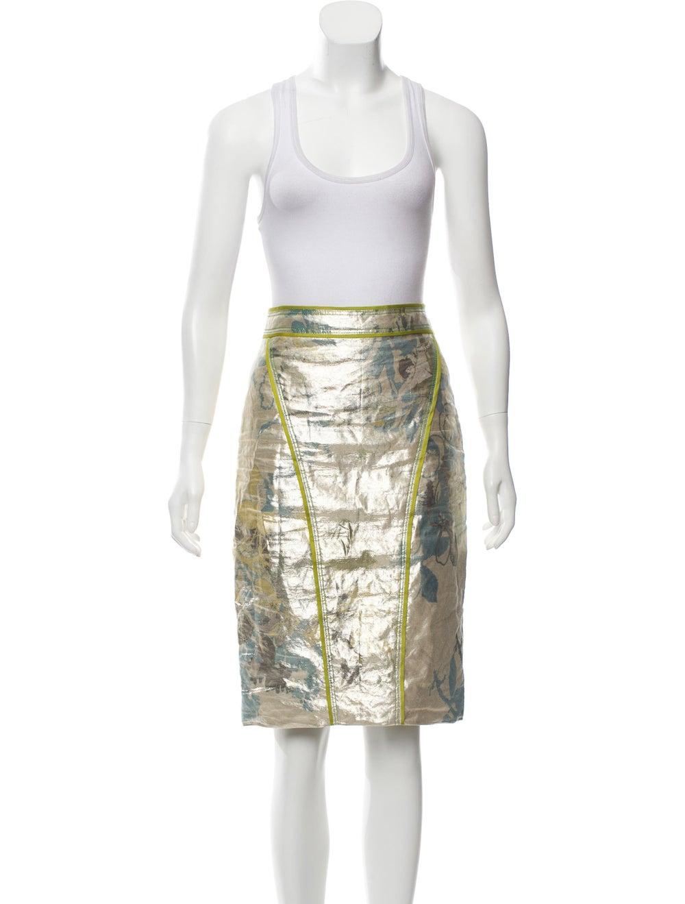 Zac Posen Metallic Knee-Length Skirt Set Metallic - image 4