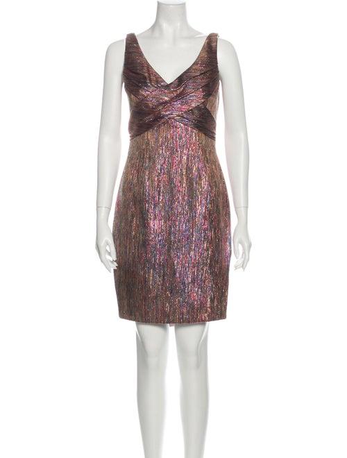 Zac Posen Metallic Mini Dress Gold