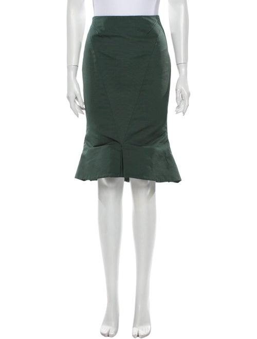 Zac Posen Knee-Length Skirt Green