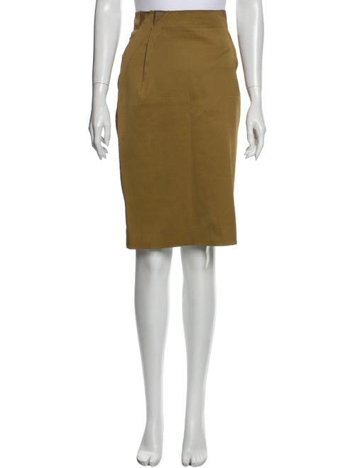 Zac Posen Knee-Length Skirt Yellow