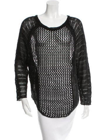 Zadig & Voltaire Open Knit Scoop Neck Top w/ Tags None
