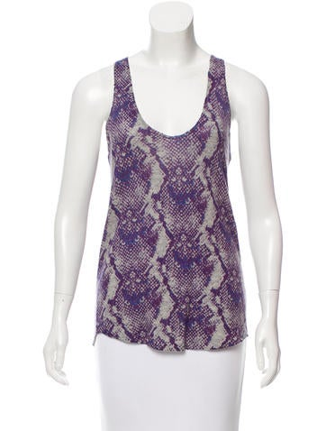Zadig & Voltaire Snake Print Cashmere Top w/ Tags None