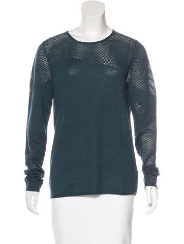 Zadig & Voltaire Wool Open Knit Sweater None