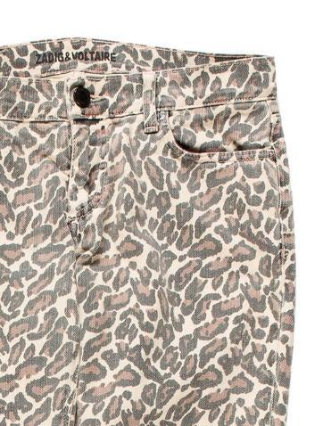 Zadig & Voltaire Leopard Print Straight-Leg Jeans ...