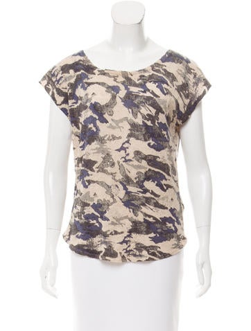 Zadig & Voltaire Camouflage Cashmere Top None