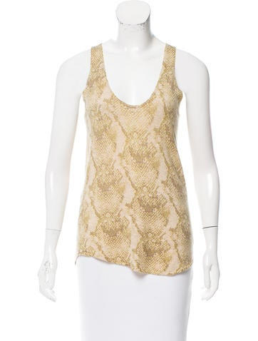 Zadig & Voltaire Patterned Cashmere Top None