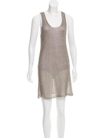Zadig & Voltaire Metallic Open Knit Dress None