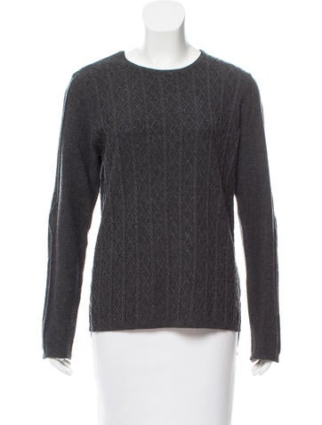 Zadig & Voltaire Leather-Trimmed Wool Sweater None