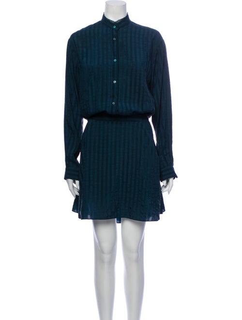 Zadig & Voltaire Silk Mini Dress Green