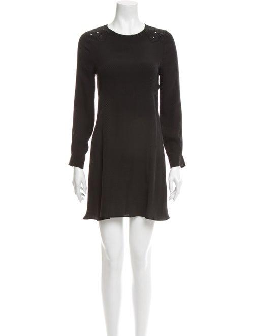 Zadig & Voltaire Silk Mini Dress Black