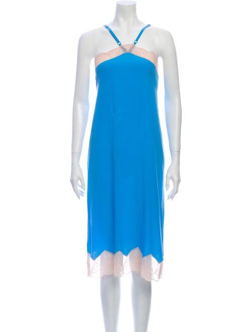Zadig & Voltaire Halterneck Midi Length Dress Blue
