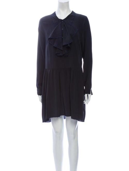 Zadig & Voltaire Silk Mini Dress Blue