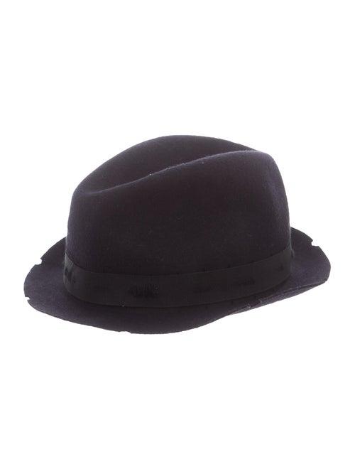 Zadig & Voltaire Felt Fedora Hat Navy