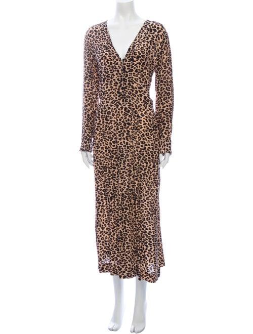 Zadig & Voltaire Animal Print Long Dress