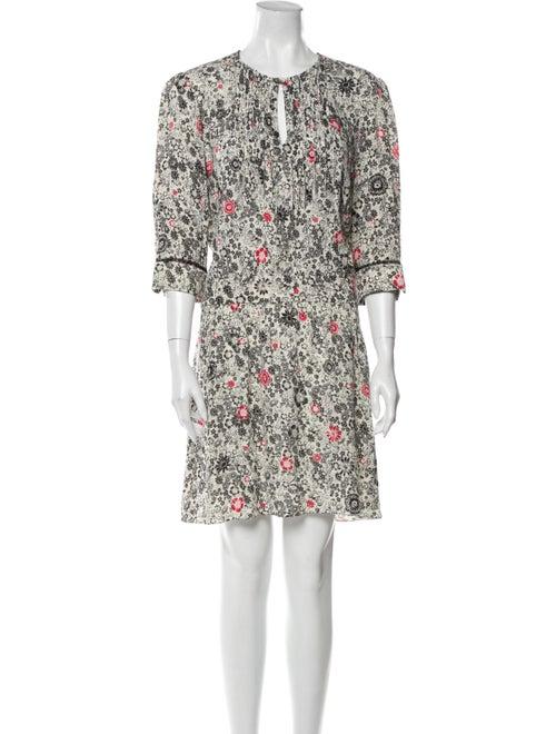 Zadig & Voltaire Floral Print Knee-Length Dress