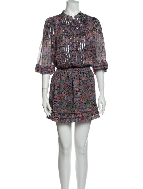 Zadig & Voltaire Printed Mini Dress Pink