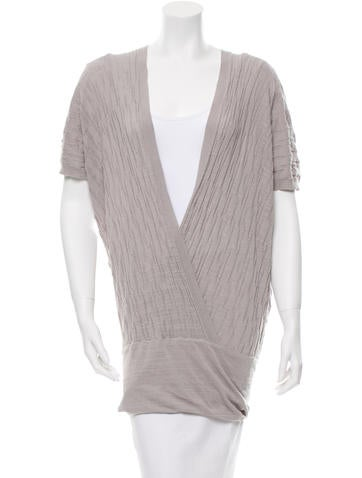 Zero + Maria Cornejo Knit Surplice Neck Top None
